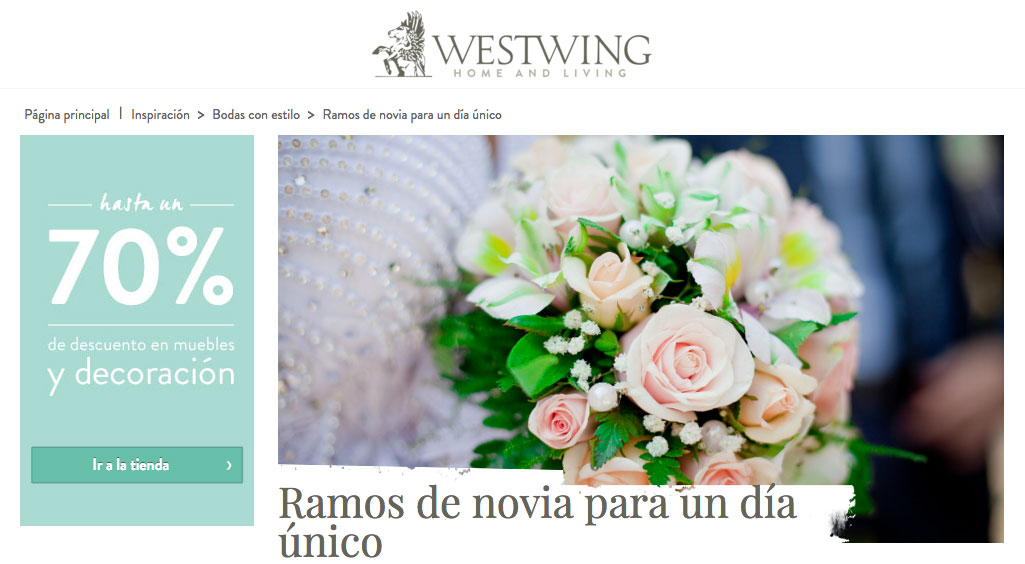 en westwing recomiendan a carolina bouquet para la decoraci n floral. Black Bedroom Furniture Sets. Home Design Ideas