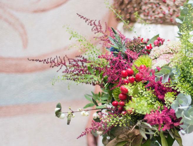 ramo de novia natural colorido y fresco