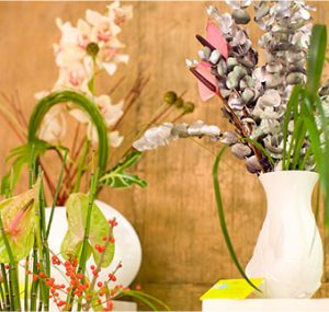 jarrones de plantas originales para eventos y comercial