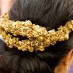 diadema en color dorado para bodas y eventos