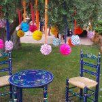 escenografía de fiesta estilo feria andaluza