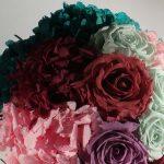 ramo de flores liofilizadas varios colores