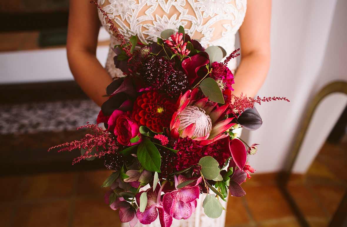 ramo de flores para novia estilo boho chic