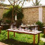 mesas para banquete de bodas estilo boho chic