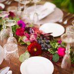 centro de mesa flores estilo boho chic
