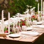 decoración boho chic flores mesa