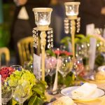 centro de mesa de flores elegante