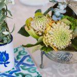 detalles florales con estilo nazarí para centros de mesa de bodas