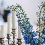 centro de mesa de flores estilo nazarí
