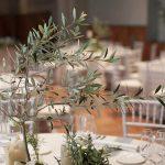 centro de mesa ramas de olivo para bodas