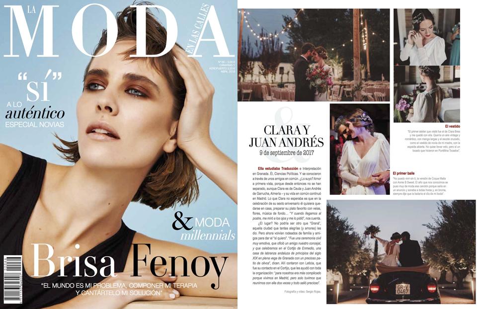 Ramo de novia de Carolina Bouquet en la revista la moda en las calles