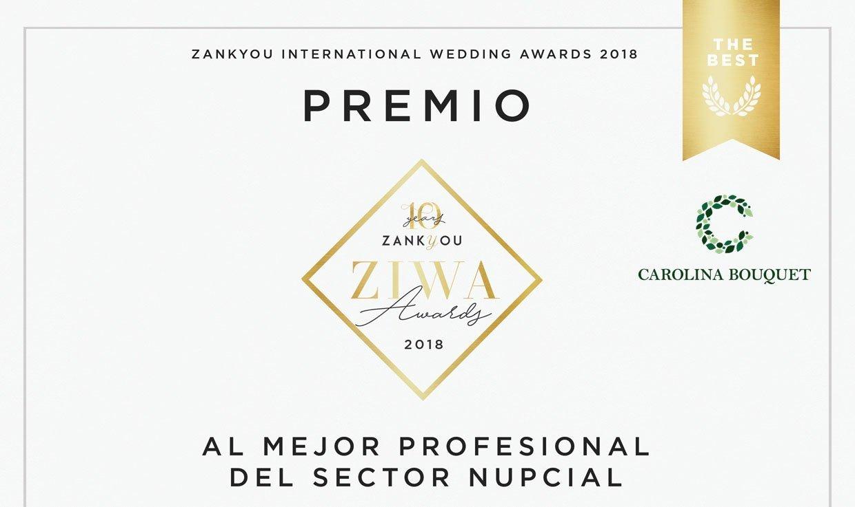 Carolina Bouquet ganadora premio Ziwa 2018 florista