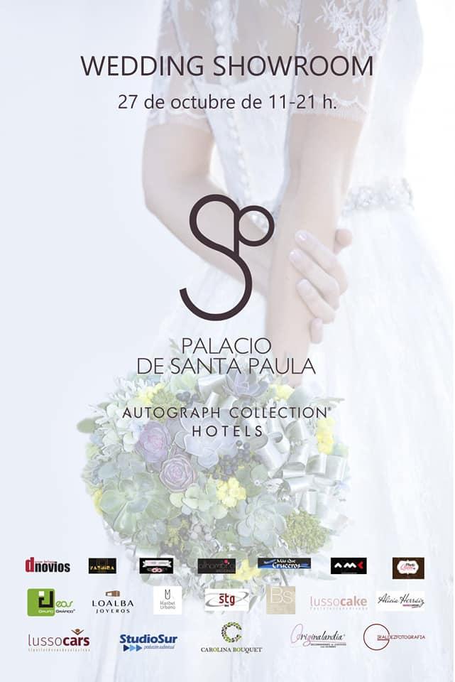 cartel del Wedding Showroom del Hotel Santa Paula octubre 2018 en Granada