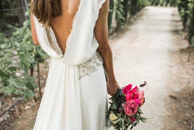 presencia de nuestro ramo de novia en la revista Hola