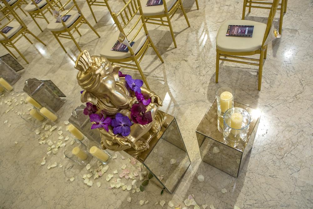 decoración hindú para boda en Granada